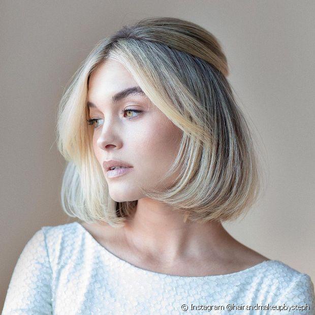 Pentenados semipresos são ótimas opções para madrinhas de cabelo curto (Foto: Instagram @hairandmakeupbysteph)