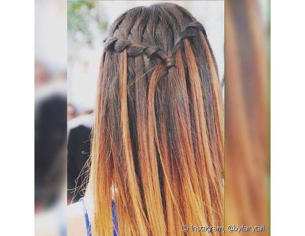 A trança cascata é o novo modelito que surgiu para inovar os penteados de noiva