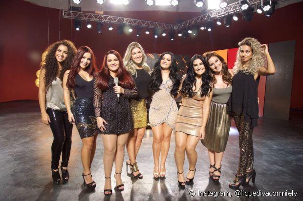 Camilla Santana, Bianca Anchieta, Lorena Improta, Bianca Andrade. Cacau e Jéssica Dantas também mudaram a cor dos cabelos e se divertiram na gravação do clipe