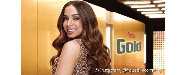 Anitta participou da campanha da Bomba Hidratação Chocolate Niely Gold