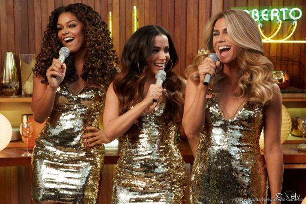 Junto com a Juliana Alves e Giovanna Antonelli, Anitta se divertiu no comercial da Niely