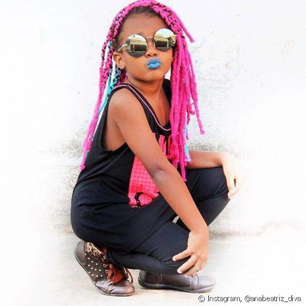 Ana Beatriz já usou as estilosas box braids e amou! 'Fiquei dois dias trançando o cabelo dela e ela ficou superanimada e empolgada. Para ela foi uma experiência incrível!', contou a mamãe Luany