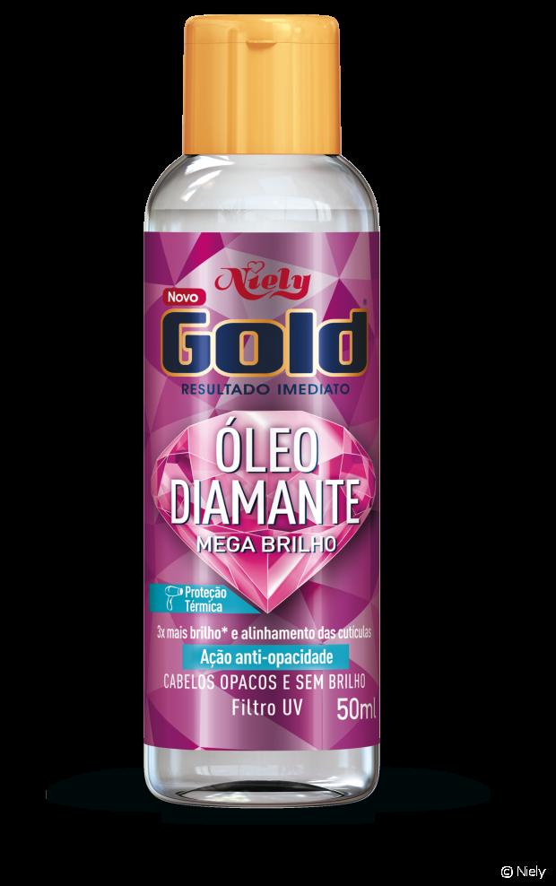 O Óleo Diamante Mega Brilho foi formulado para quem tem cabelos opacos e sem brilho