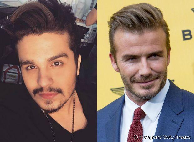 Luan Santana e David Beckham são adeptos do corte pompadour