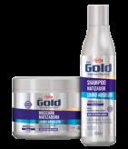 Kit Shampoo e Máscara Matizadora Niely Gold Louro Absoluto