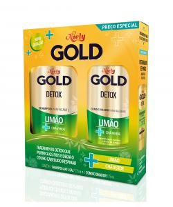 Kit Shampoo + Cond Niely Gold Detox Limão + Chá Verde