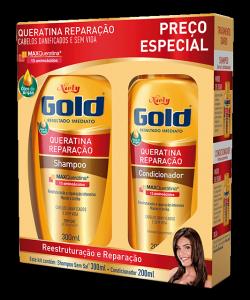 Kit Especial Niely Gold Queratina Reparação Shampoo 300ml + Condicionador 200ml