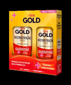 Kit Especial Niely Gold Reconstrução Potente Shampoo 300ml + Condicionador 200ml