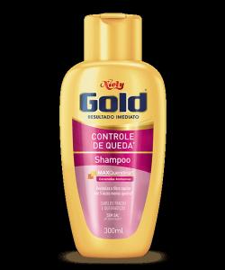 Shampoo Sem Sal Niely Gold Controle de Queda 300ml