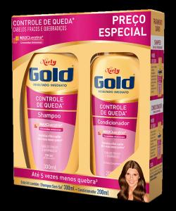 Kit Especial Niely Gold Controle de Queda Shampoo 300ml + Condicionador 200ml