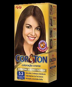 Castanho Claro Dourado 5.3 Cor&Ton Coloração Creme