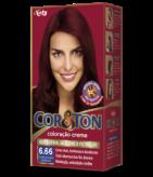 Louro Escuro Vermelho 6.66 Cor&Ton Coloração Creme