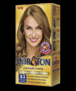 Louro Claro Dourado 8.3 Cor&Ton Coloração Creme
