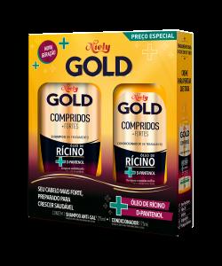 Kit Especial Niely Gold Compridos + Fortes Shampoo 300ML + Condicionador 200ML