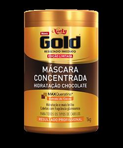 Máscara Concentrada Niely Gold Hidratação Chocolate 1kg