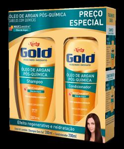 Kit Especial Niely Gold Óleo de Argan Pós Química Shampoo 300ml + Condicionador 200ml