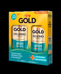Kit Especial Niely Gold Niely Gold Pós-Química Poderoso Shampoo 300ml + Condicionador 200ml