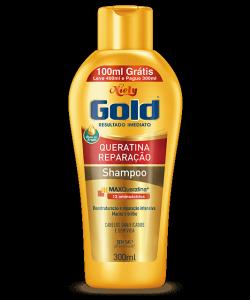 Shampoo Sem Sal Niely Gold Queratina Reparação 400ml (100ml Grátis)