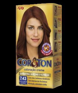 Louro Acobreado Dourado 7.43 Cor&Ton Coloração Creme