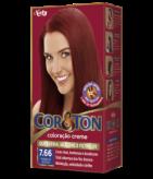 Vermelho Intenso 7.66 Cor&Ton Coloração Creme