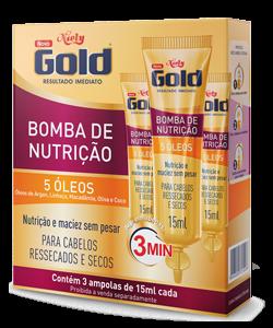 Bomba de Nutrição Niely Gold 3 ampolas de 15ml