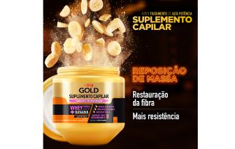 Creme de Tratamento Pró-Restauração Niely Gold Suplemento Capilar 800G