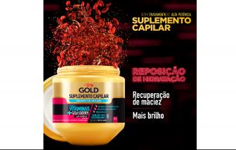Creme de tratamento Pró-Hidratação Niely Gold Suplemento Capilar 800G